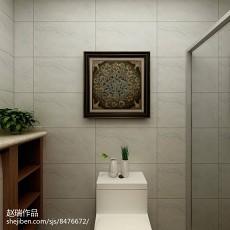 精选103平米三居卫生间简约装修实景图片