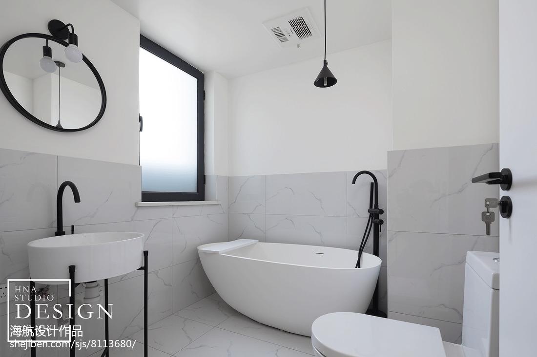 130平北欧卫浴设计图