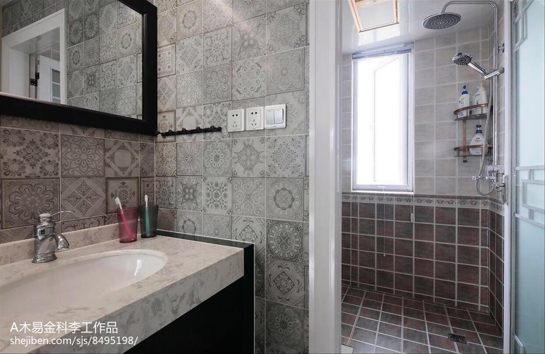 最热小户型卫生间简约装修实景图片