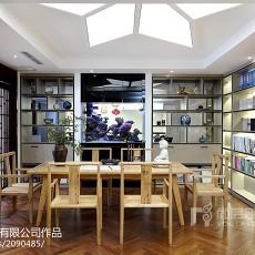 精美129平米中式别墅书房装修设计效果图片