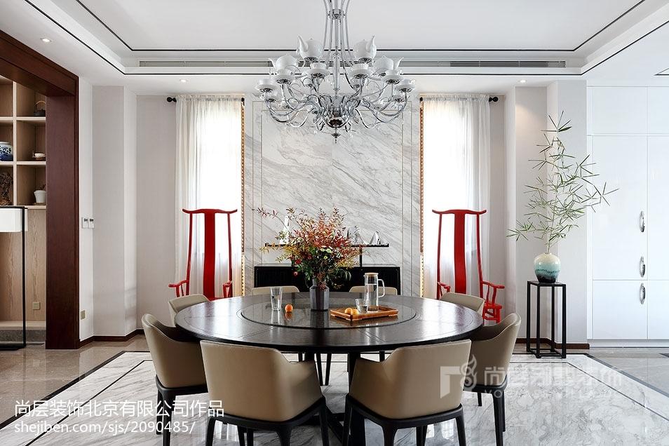 精美中式别墅餐厅装修设计效果图片大全