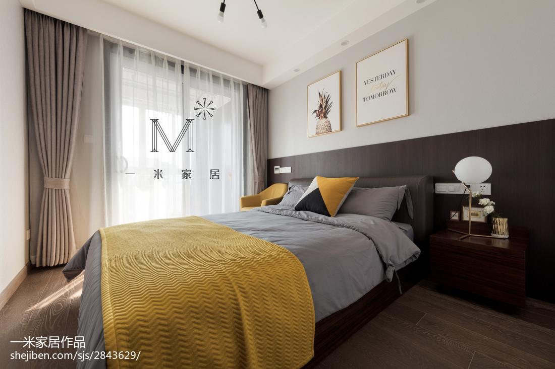 面积75平现代二居卧室效果图