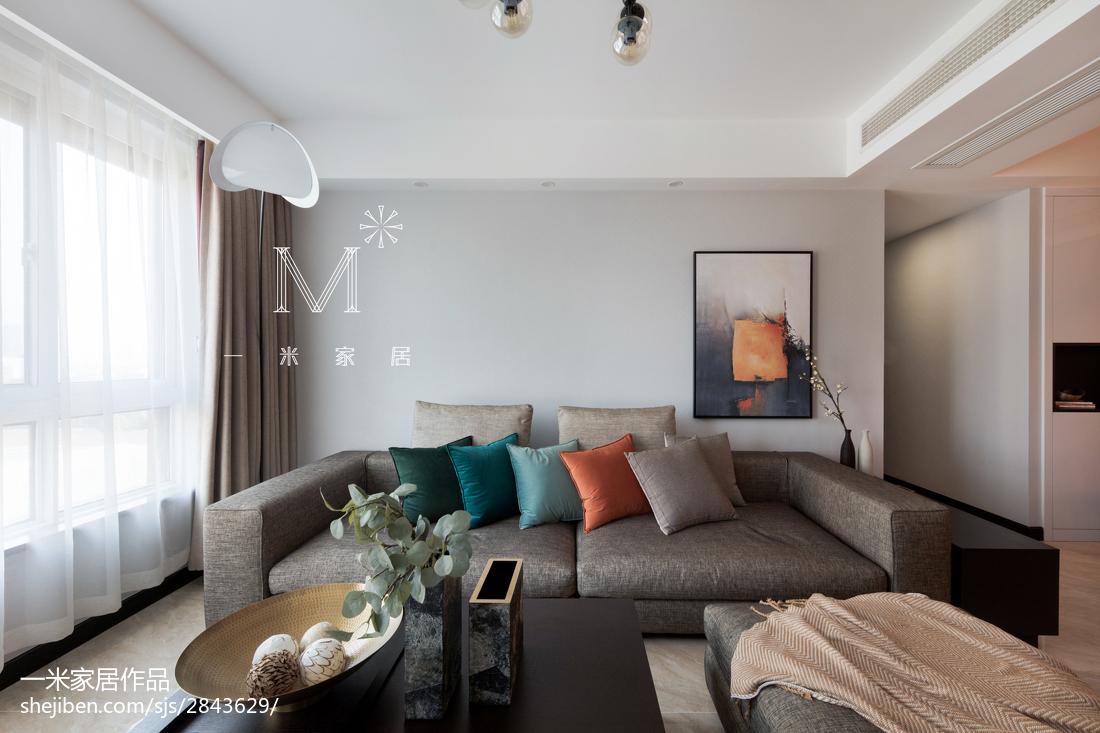 2018面积77平现代二居客厅实景图片欣赏