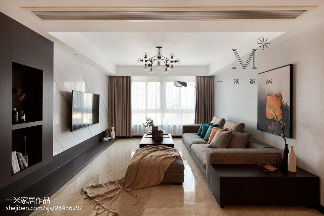 精选面积83平现代二居客厅装饰图片大全