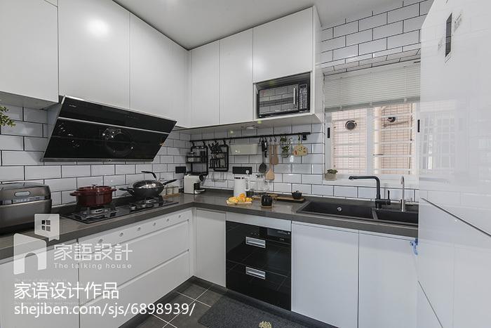 精美105平米三居厨房北欧实景图片大全