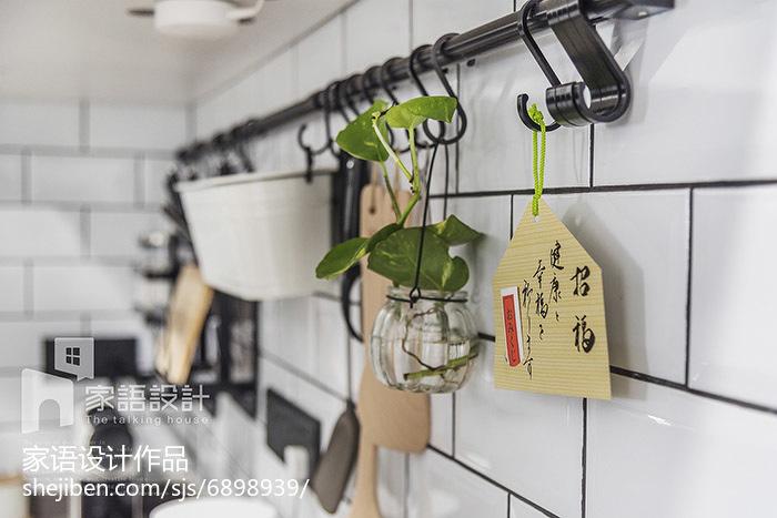 2018面积96平北欧三居厨房实景图