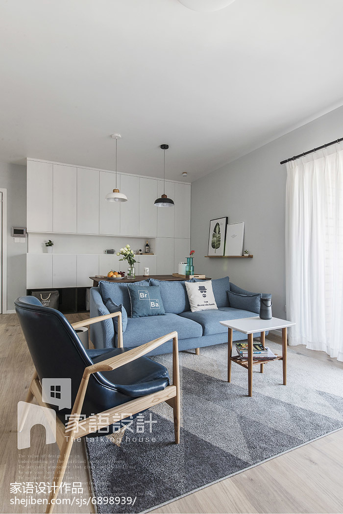 201891平方三居客厅北欧效果图片欣赏