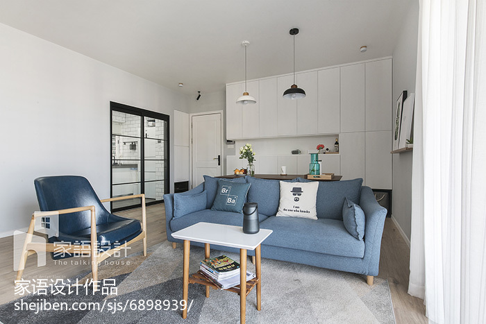 2018大小104平北欧三居客厅装修实景图