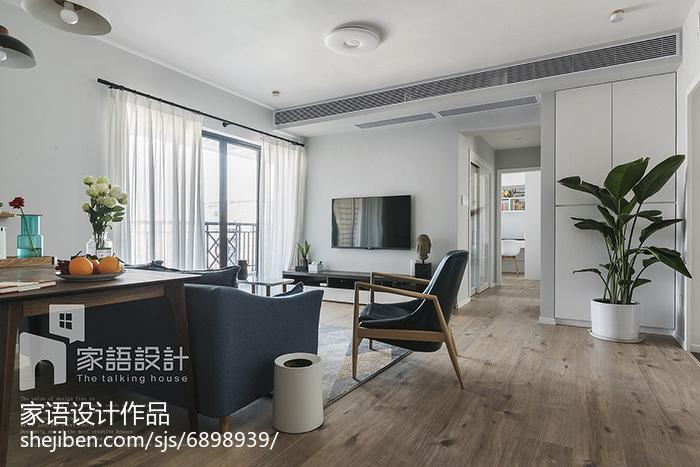 2018精选面积91平北欧三居客厅装修图片
