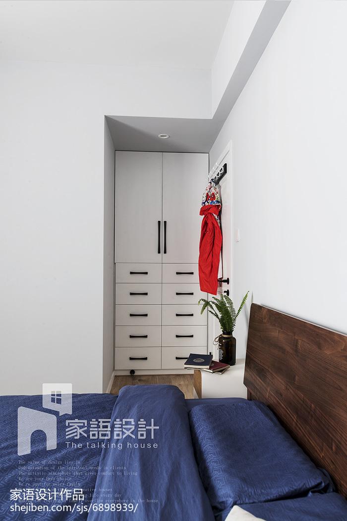 2018精选面积105平北欧三居卧室欣赏图片大全