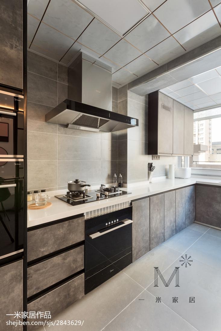 精美面积85平现代二居厨房装修设计效果图片大全
