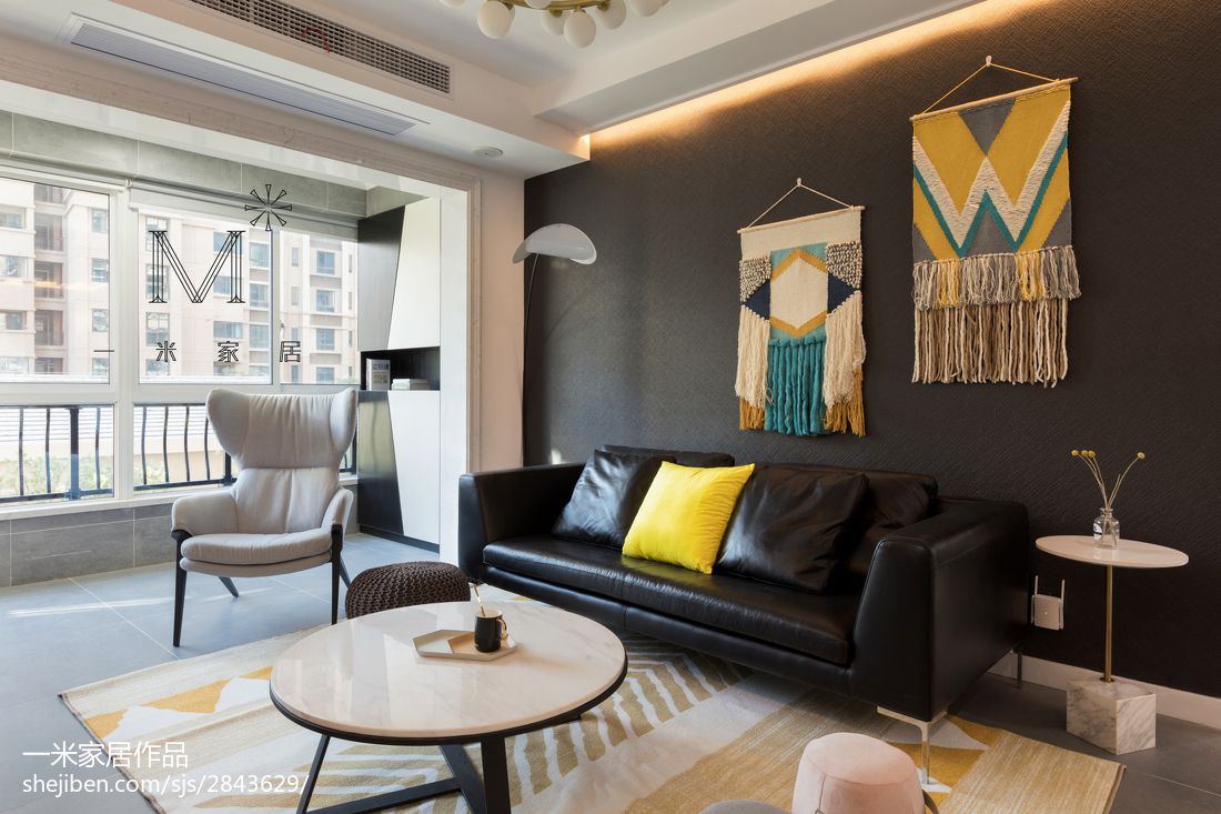 精美面积90平现代二居客厅装修设计效果图片大全