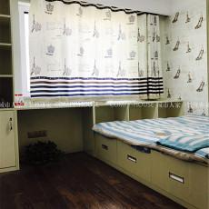 混搭美式小卧室书柜效果图