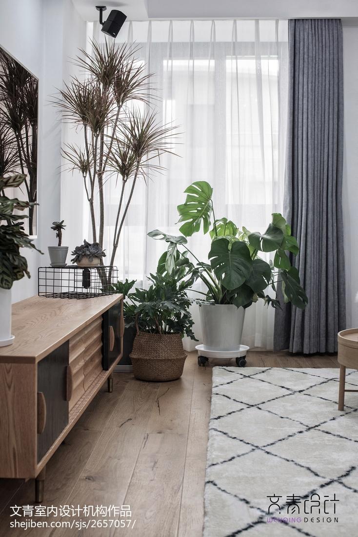 典雅73平北欧复式客厅设计效果图