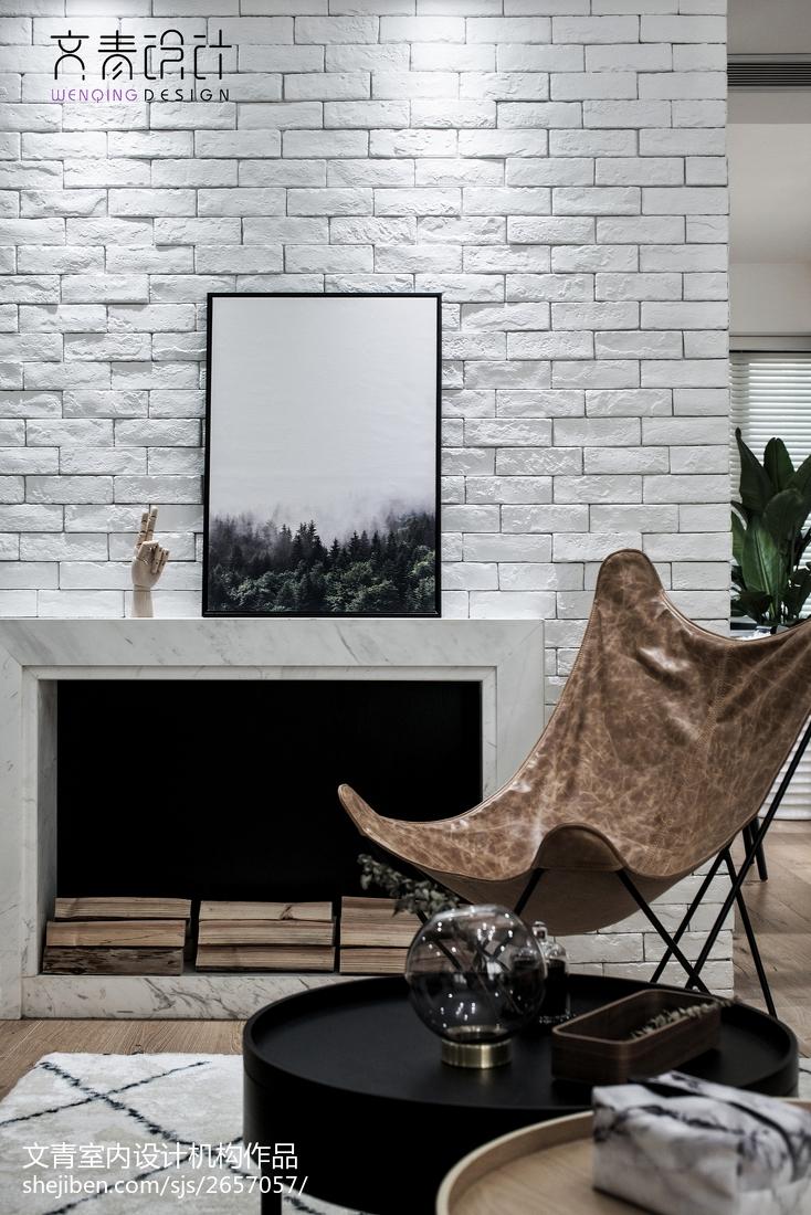 华丽84平北欧复式客厅装饰美图