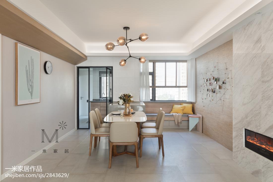 2018面积72平现代二居餐厅装修效果图片