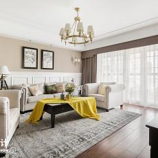 精选106平米三居客厅美式实景图片大全
