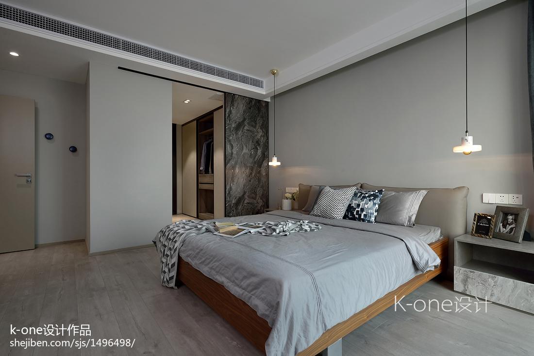 精美114平方四居卧室现代装修实景图