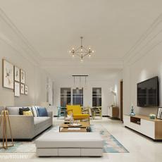 现代家庭设计装修客厅电视背景墙图片大全