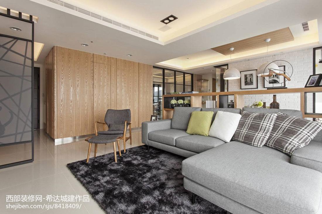 2018精选面积74平小户型客厅现代装修实景图片欣赏