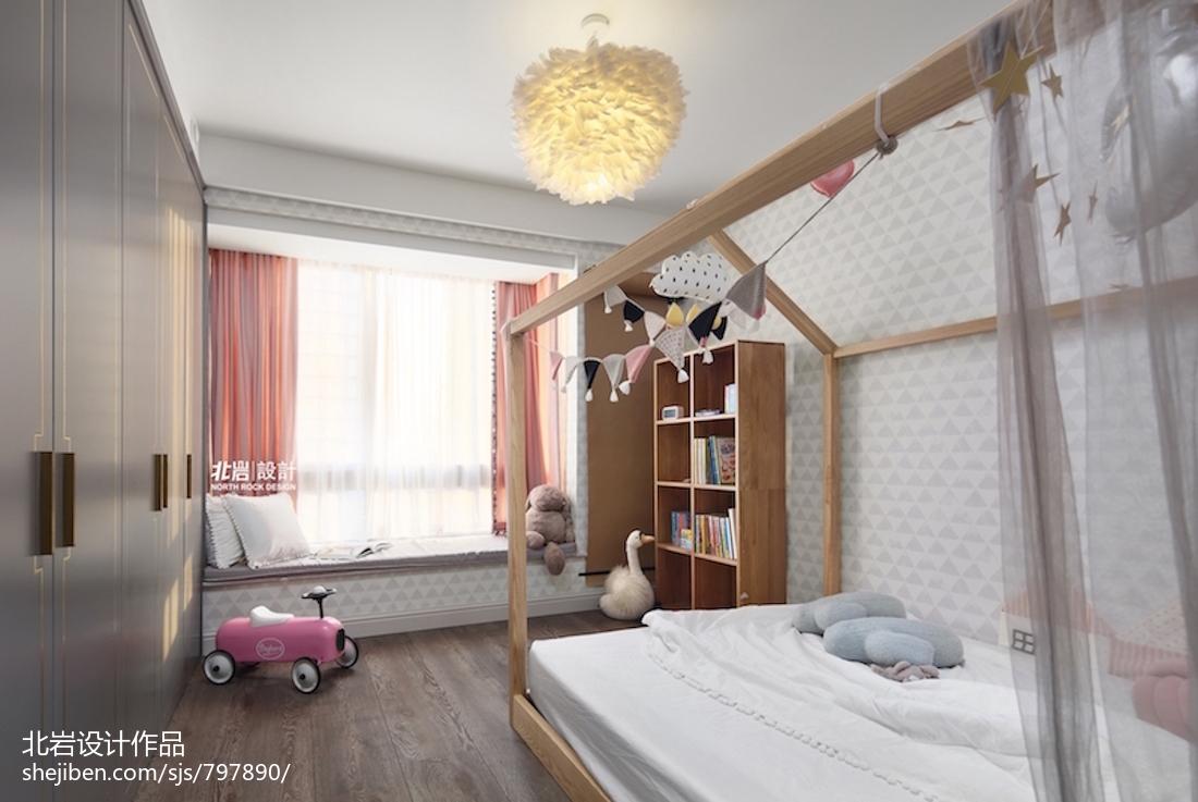 华丽88平田园三居儿童房装修案例