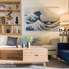 热门面积78平日式二居客厅装修设计效果图片欣赏