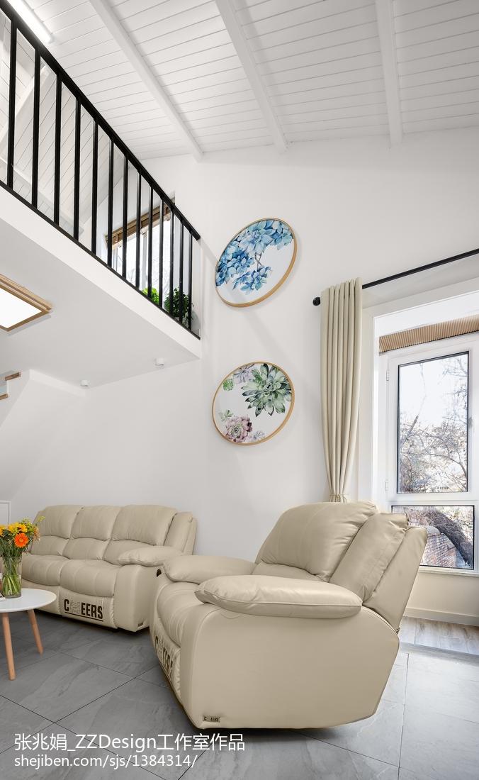 2018精选105平米三居客厅北欧装饰图片欣赏