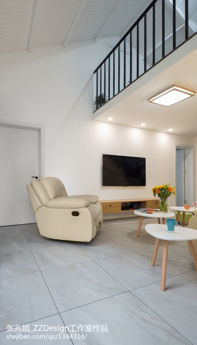 94平米三居客厅北欧装修效果图片大全