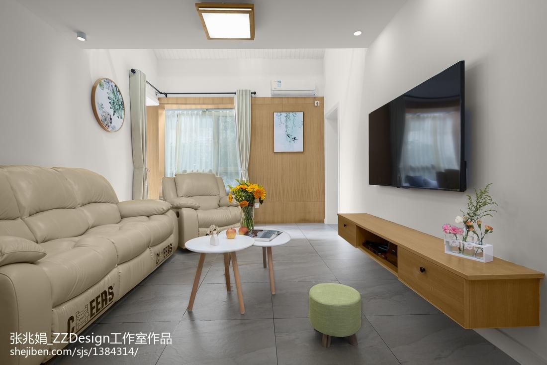 104平米三居客厅北欧装修效果图片