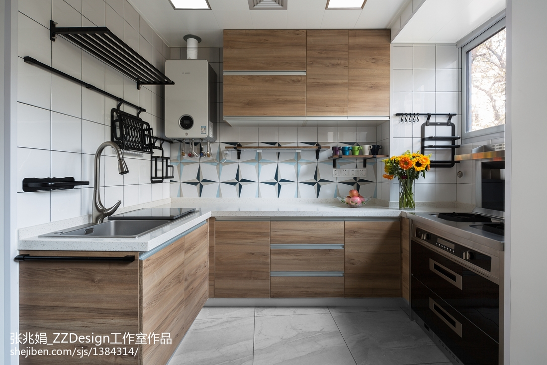 热门三居厨房北欧效果图片