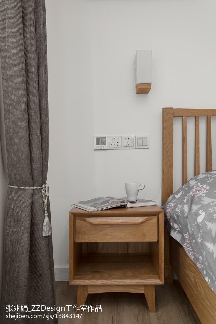 精选105平米三居卧室北欧装饰图片大全
