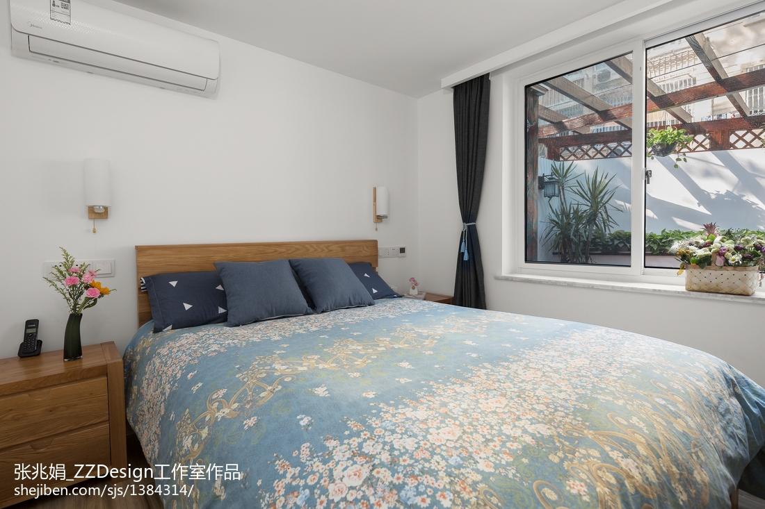 优美114平北欧三居卧室案例图