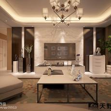 热门面积98平简约三居客厅装修欣赏图片