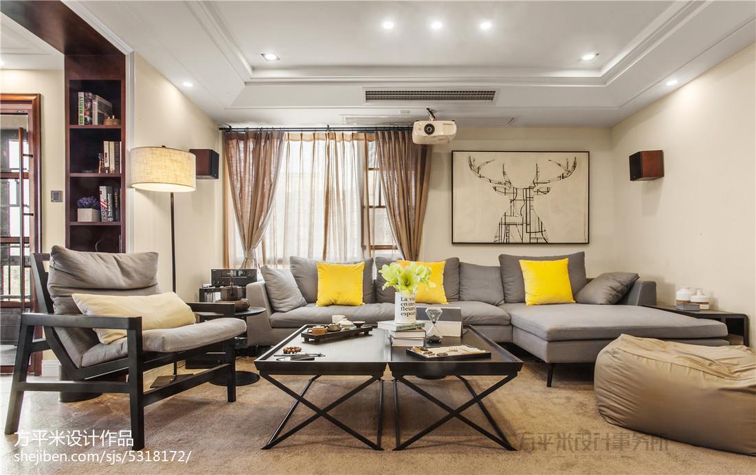 2018精选面积98平现代三居客厅装修设计效果图