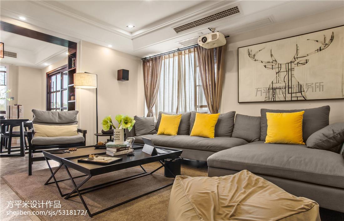 精美92平米三居客厅现代欣赏图片