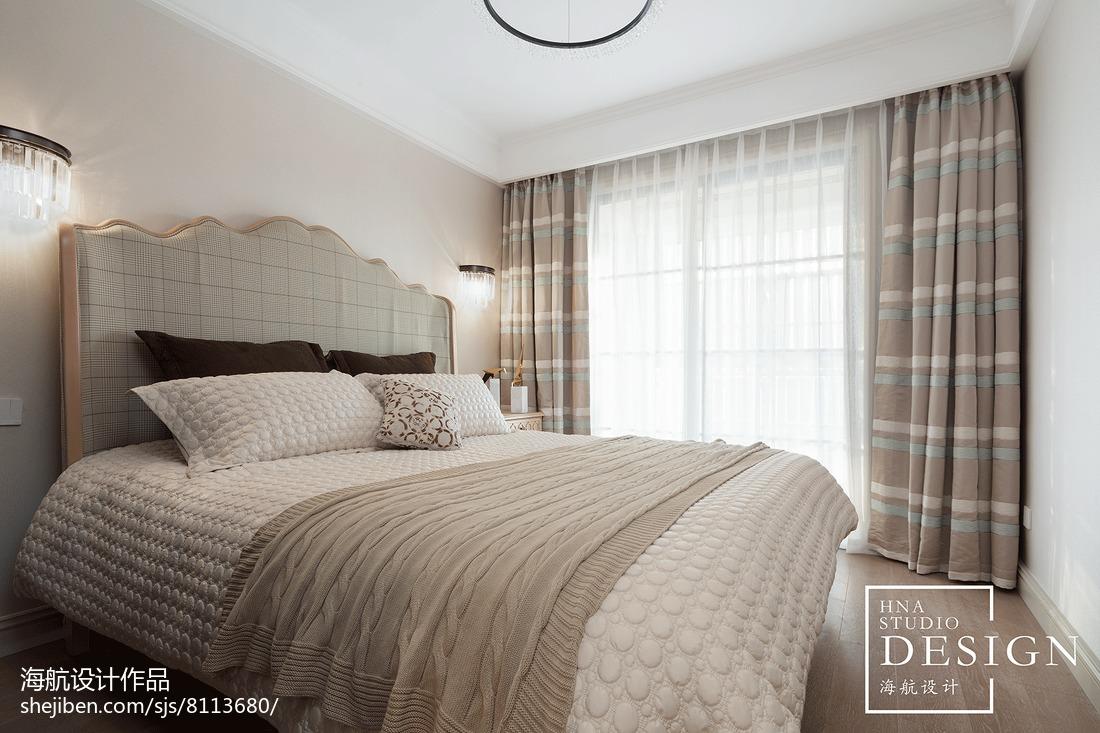 面积100平美式三居卧室装饰图片