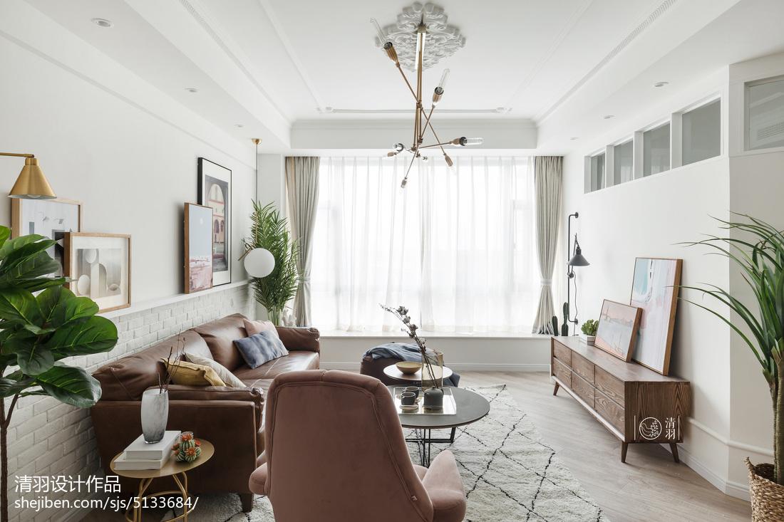 热门面积106平北欧三居客厅实景图片欣赏