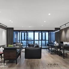 2018精选面积133平现代四居客厅装修实景图