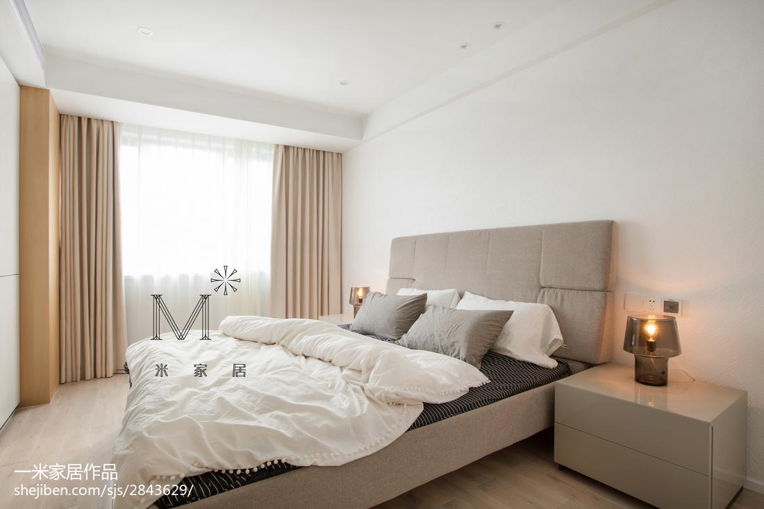 精美面积88平简约二居卧室实景图