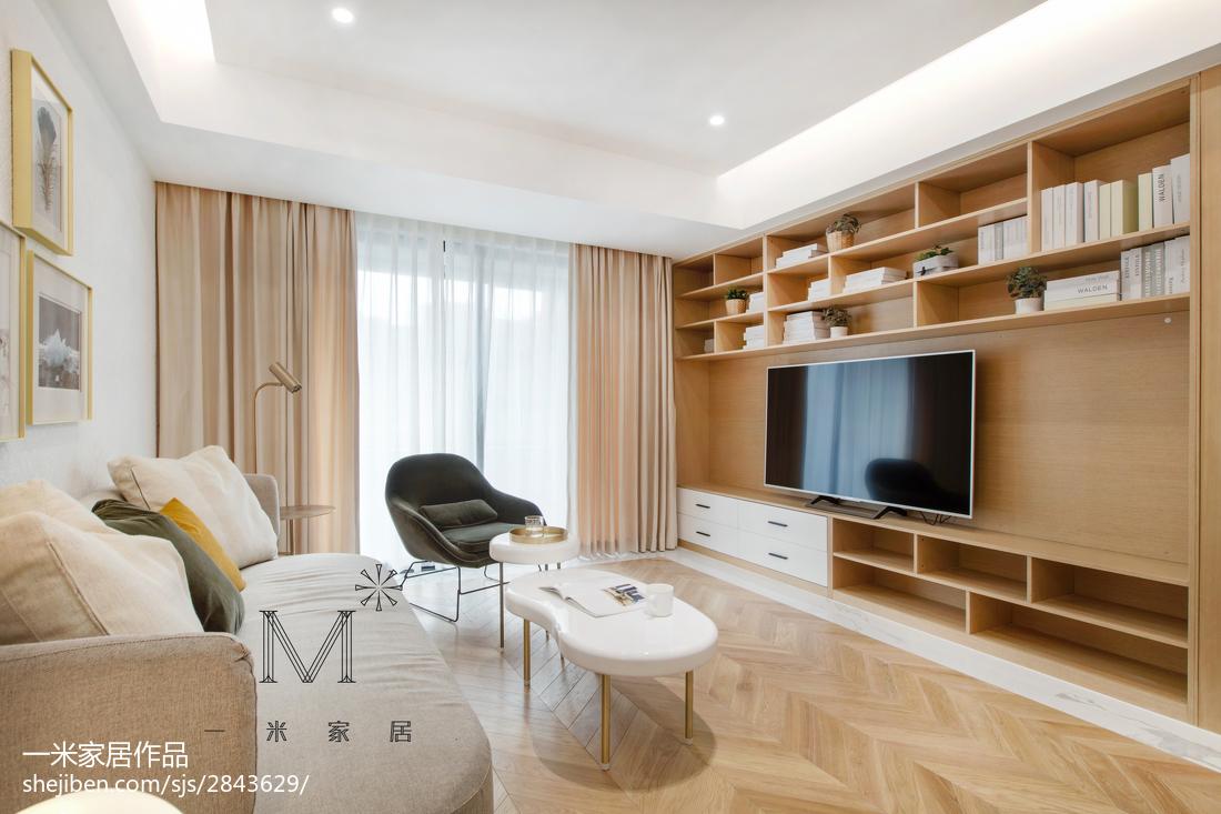 华丽72平简约二居客厅装修效果图