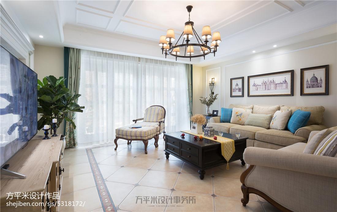 精美66平美式复式客厅设计图