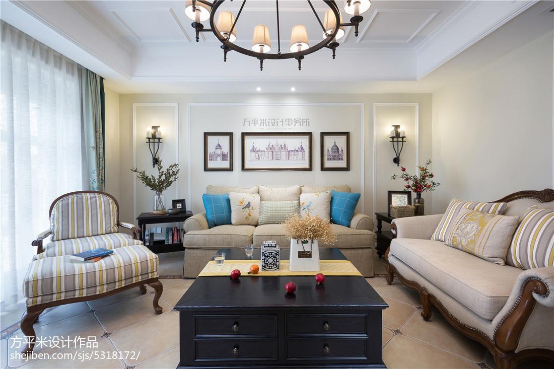温馨300平美式复式客厅美图