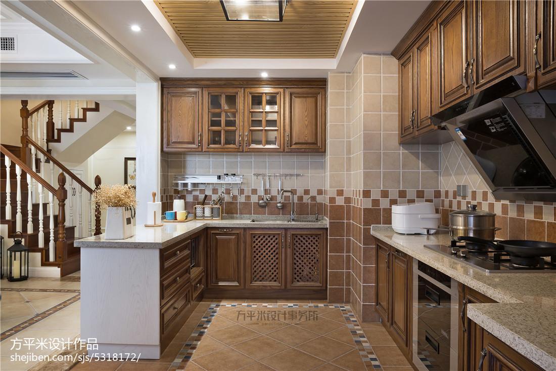 质朴52平美式复式厨房设计案例