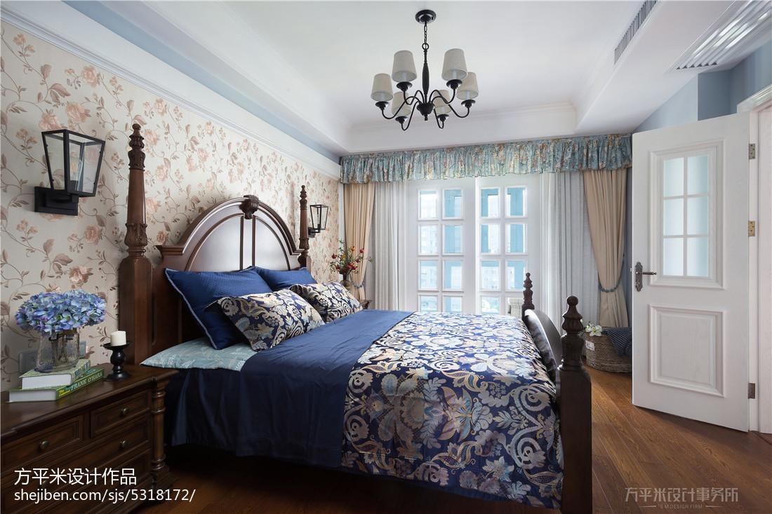典雅43平美式复式卧室美图