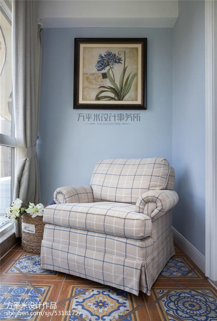 明亮45平美式复式卧室装修案例