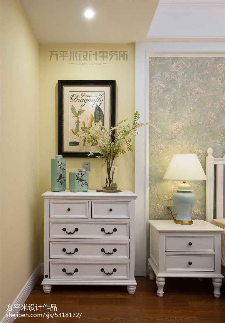 典雅76平美式复式卧室装修效果图