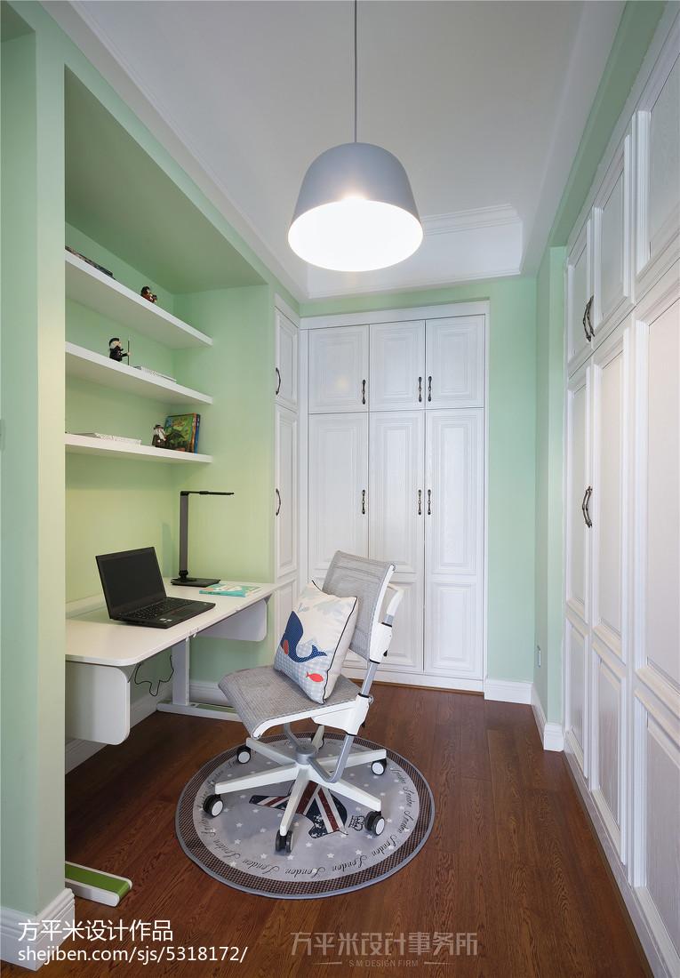 典雅56平美式复式书房装饰美图