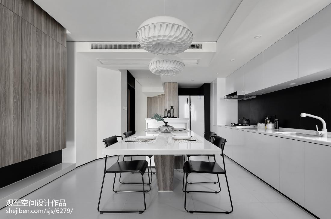 精选113平米现代复式餐厅效果图片大全