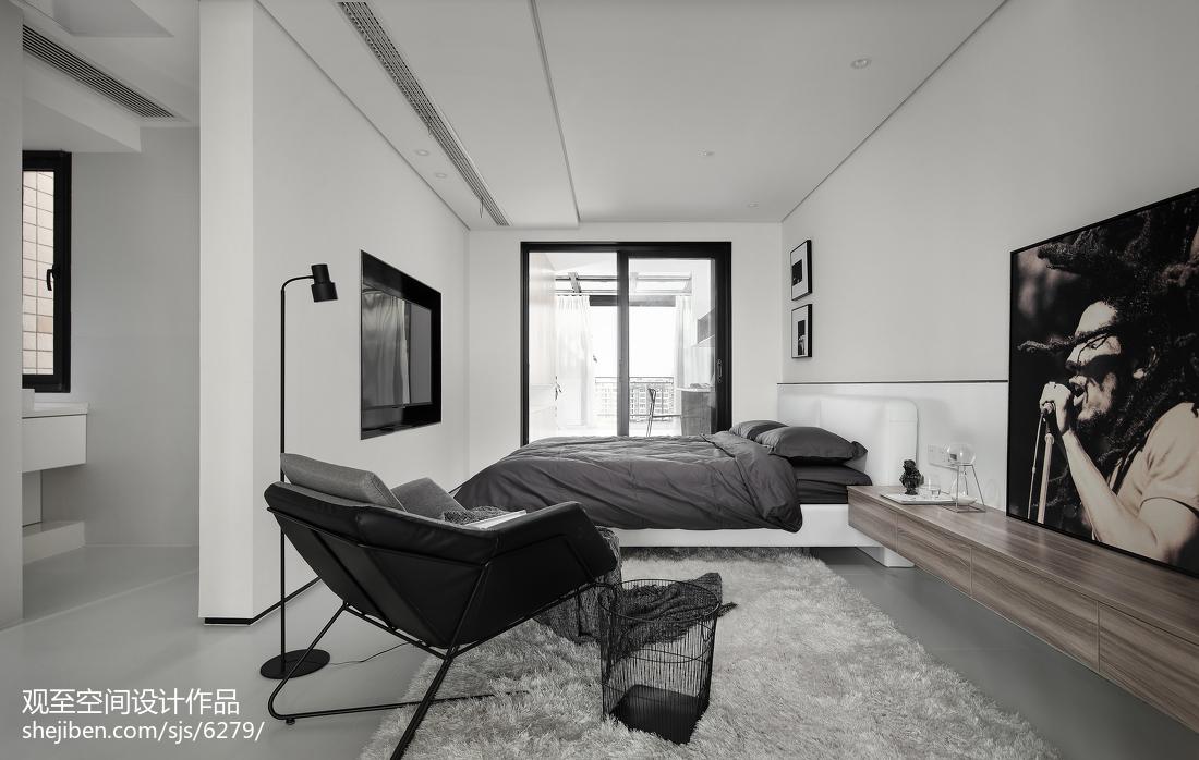 2018110平米现代复式卧室装修图片大全