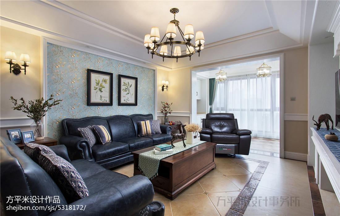 质朴168平美式四居客厅实景图片
